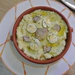 ajoarriero con huevo de codorniz trufado y trufa