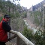 Peña la Gitana y rio Tajo desde las Tobas